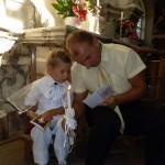 Laimonas su krikšto tėvu